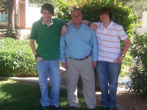 Dad and two teenage boys