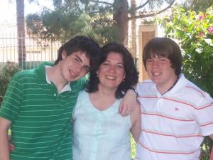 Mom and two teenage boys